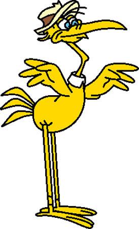 Crane - A Cegonha de Perna Fina e o seu filho Jr.